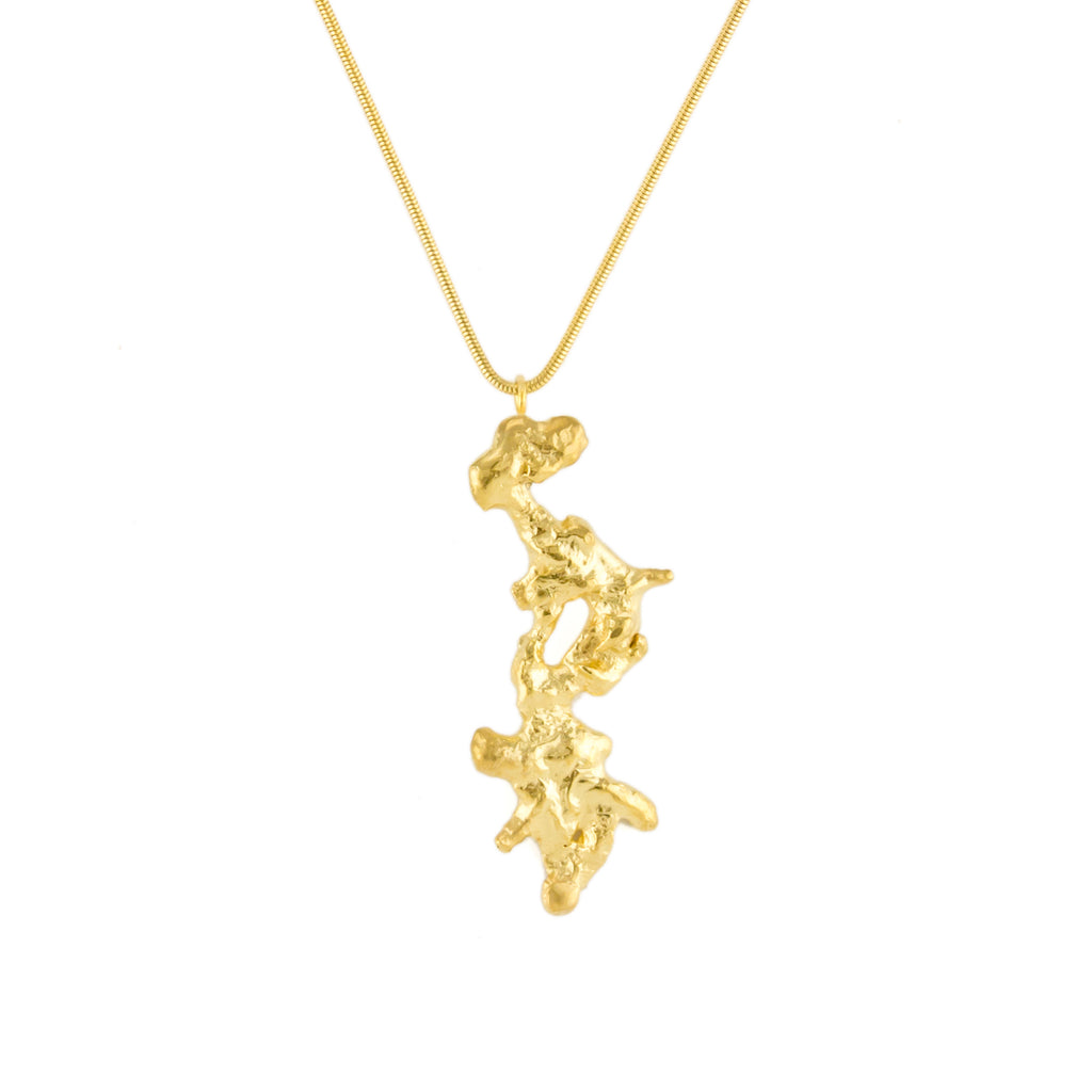 Coral Pendant 18ct Fairtrade Gold