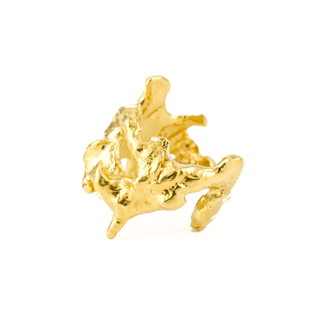 Molten Coral Ring (22kt Gold Vermeil) Pascale James Jewellery