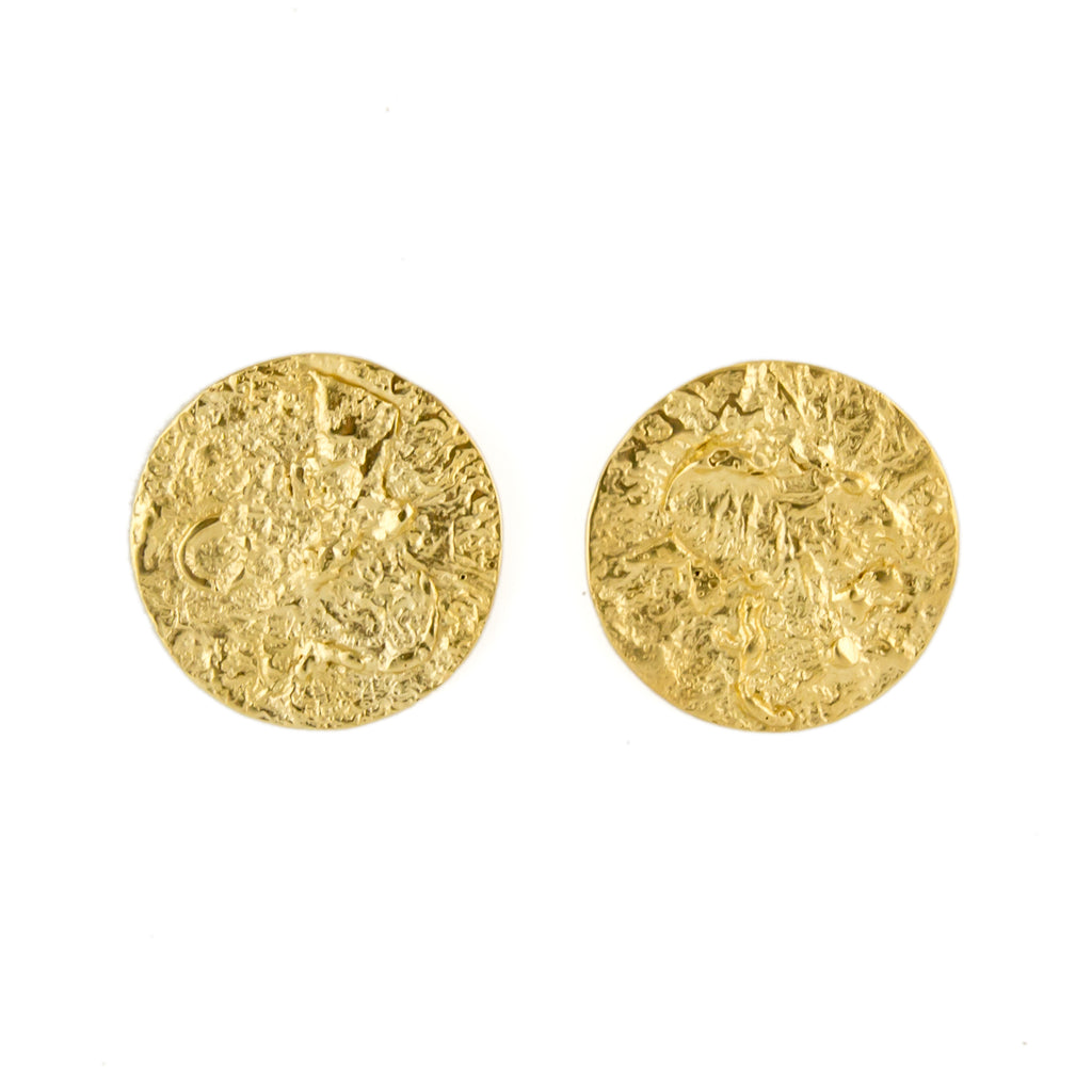 Large Moon Earrings (22ct Gold Vermeil) Pascale James