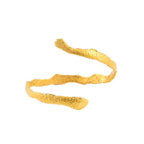 Orange Peel Bangle, 22kt Gold Vermeil
