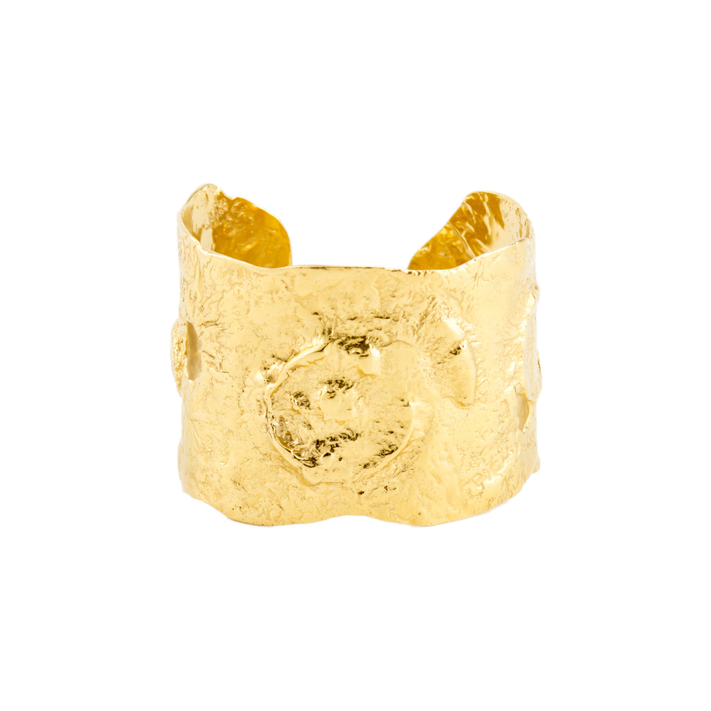 18ct Fairtrade yellow gold cuff