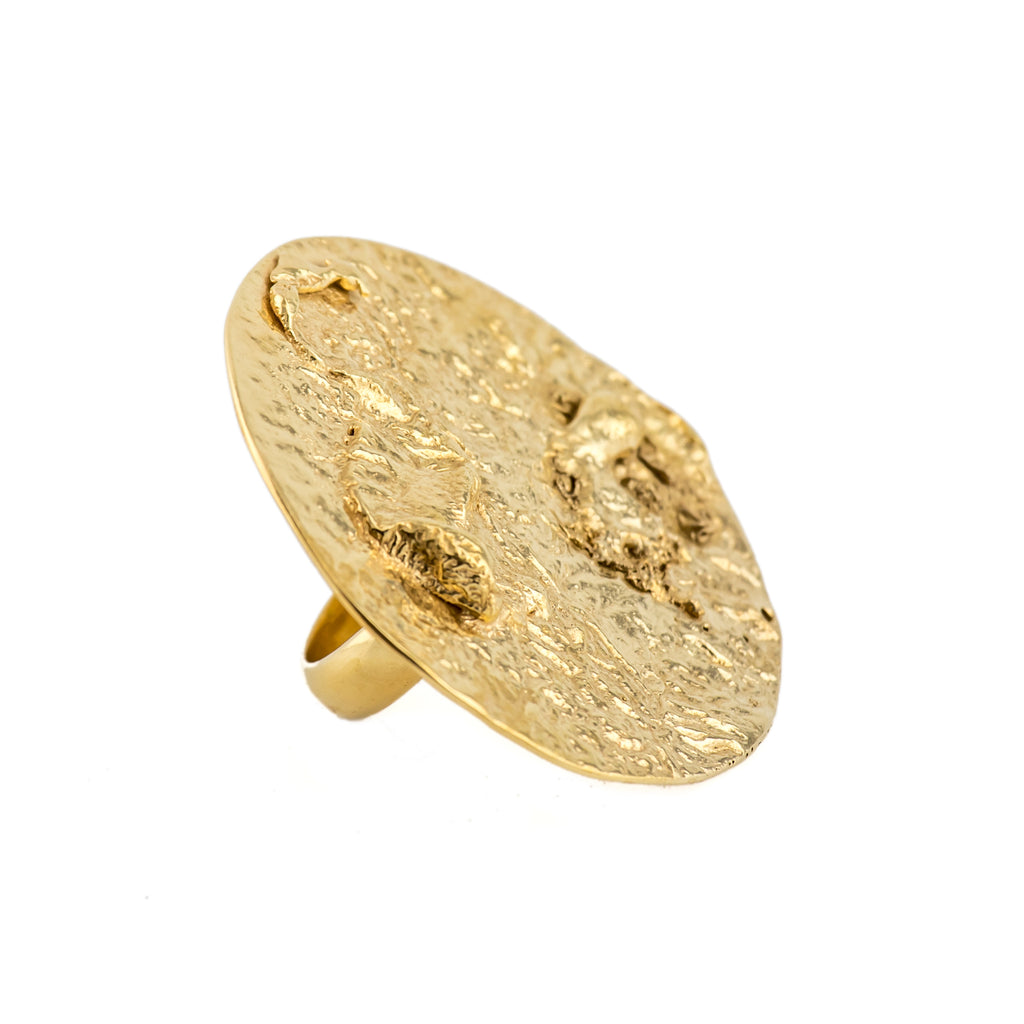 Orogenesis Large Moon Ring (22kt Gold Vermeil)