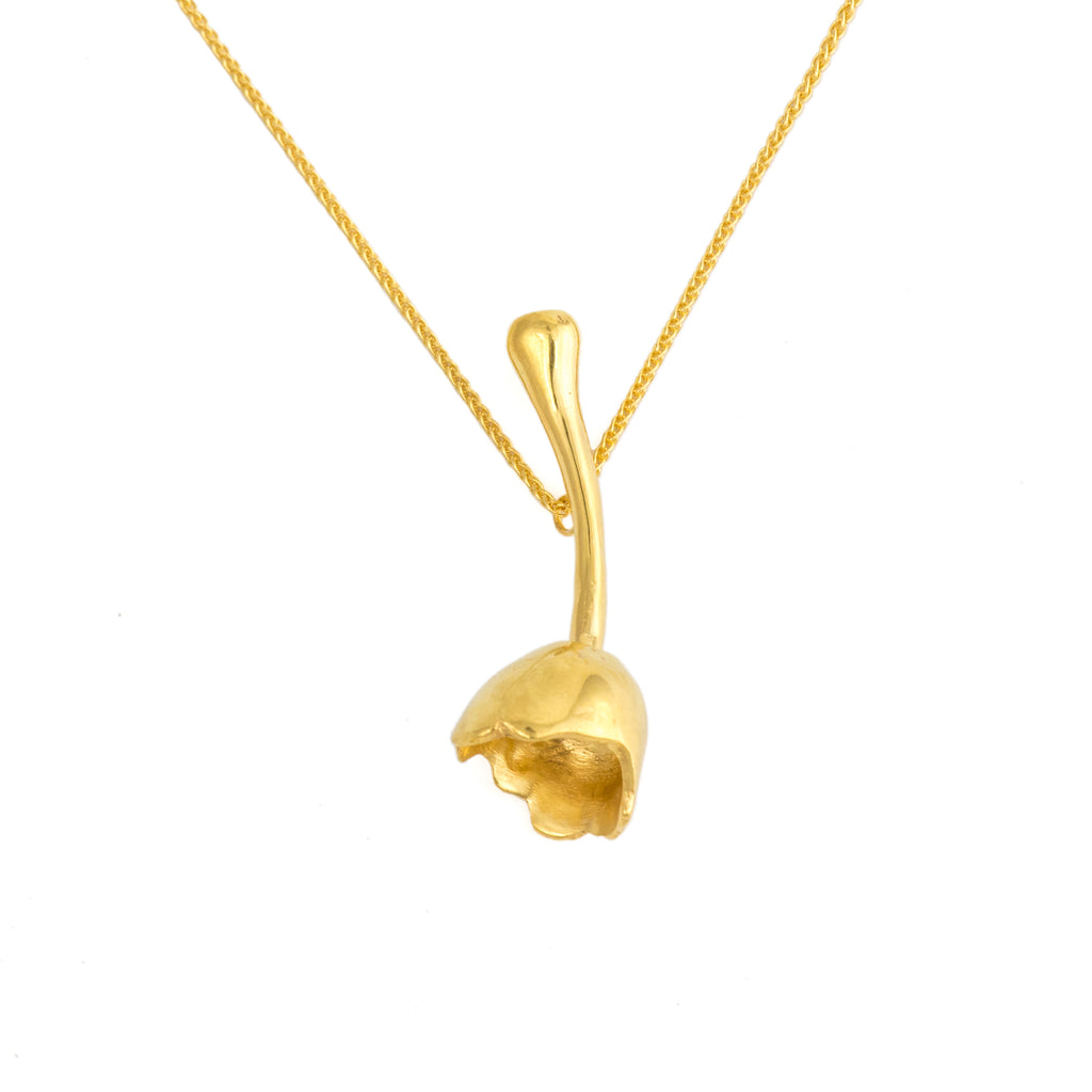 Pear Top Pendant, 22kt Gold Vermeil