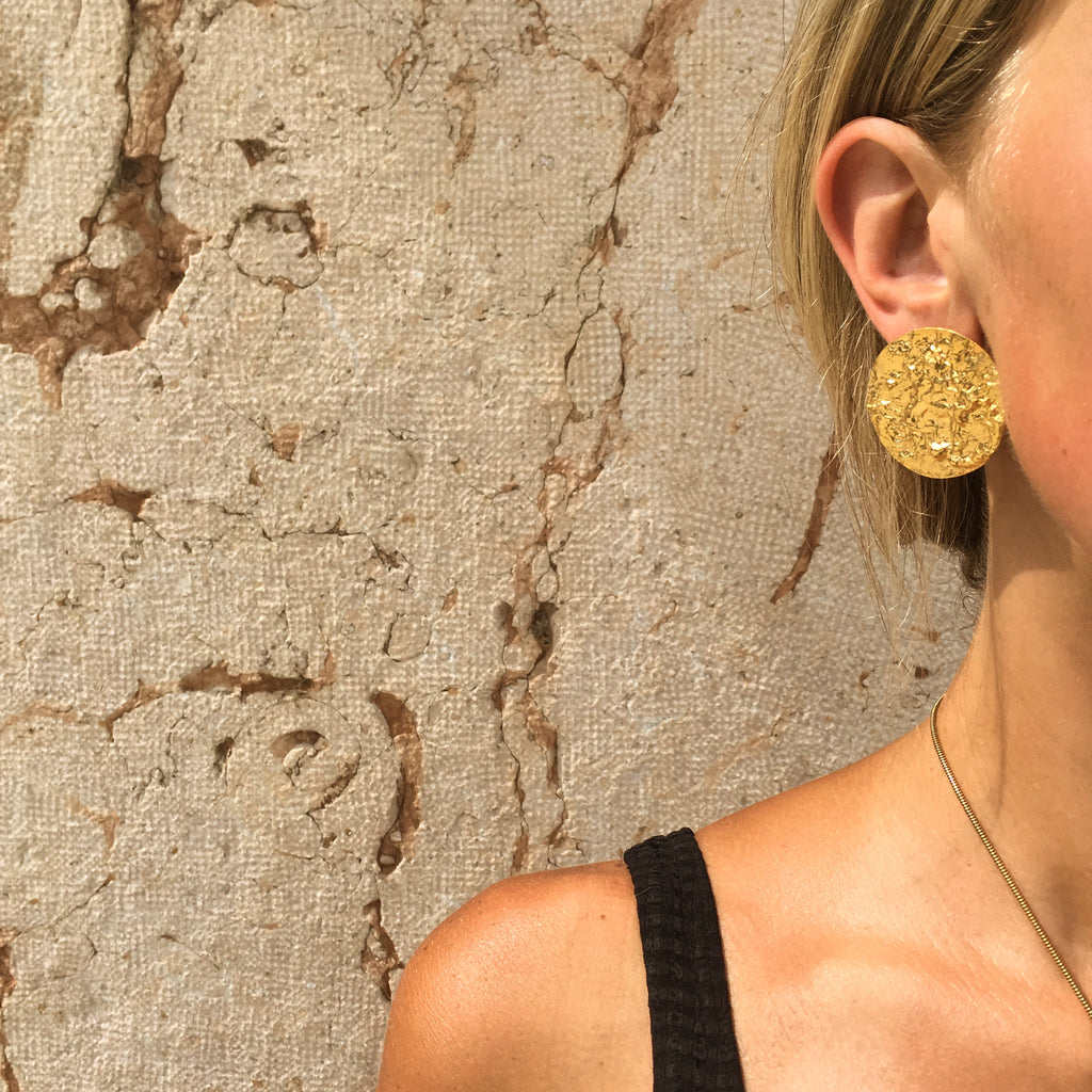 18ct Fairtrade yelllow gold Moon Earrings