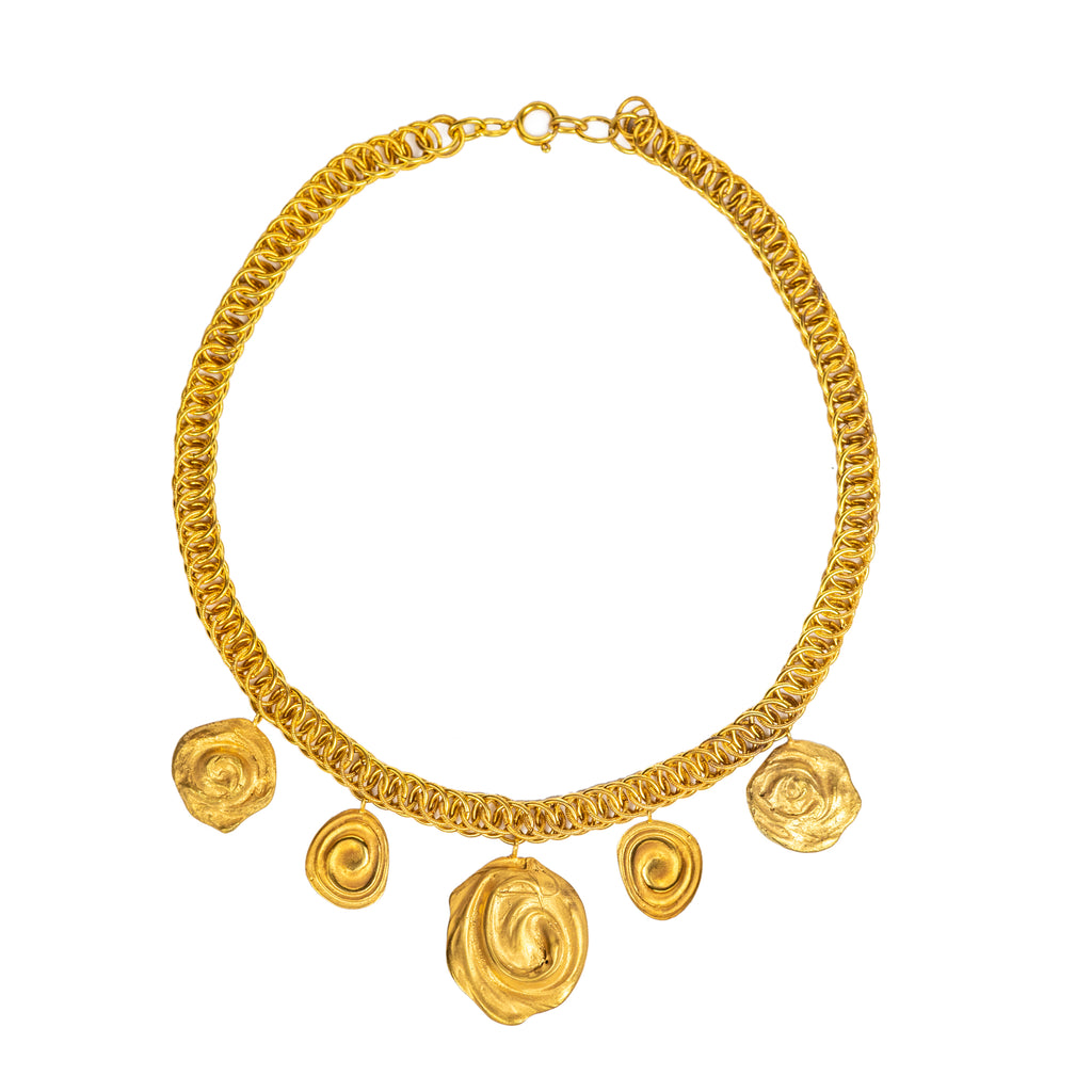 The Water Series Charm Necklace (22ct Gold Vermeil) Pascale James Jewellery