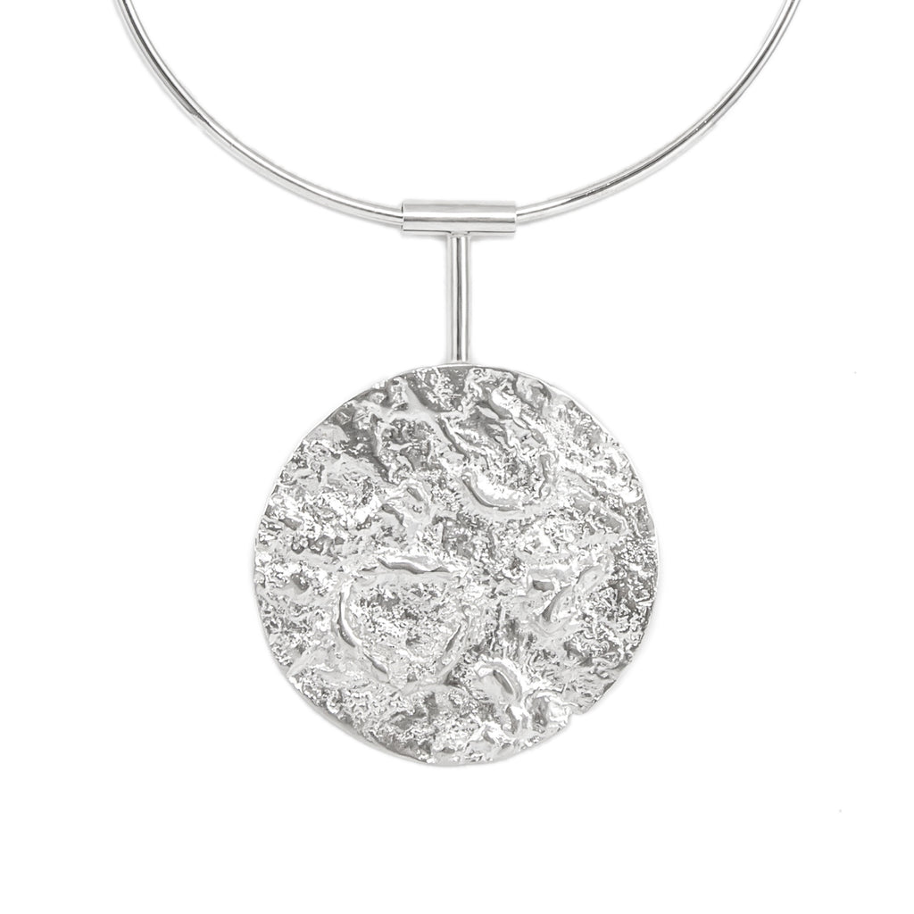 Statement sterling silver neck piece
