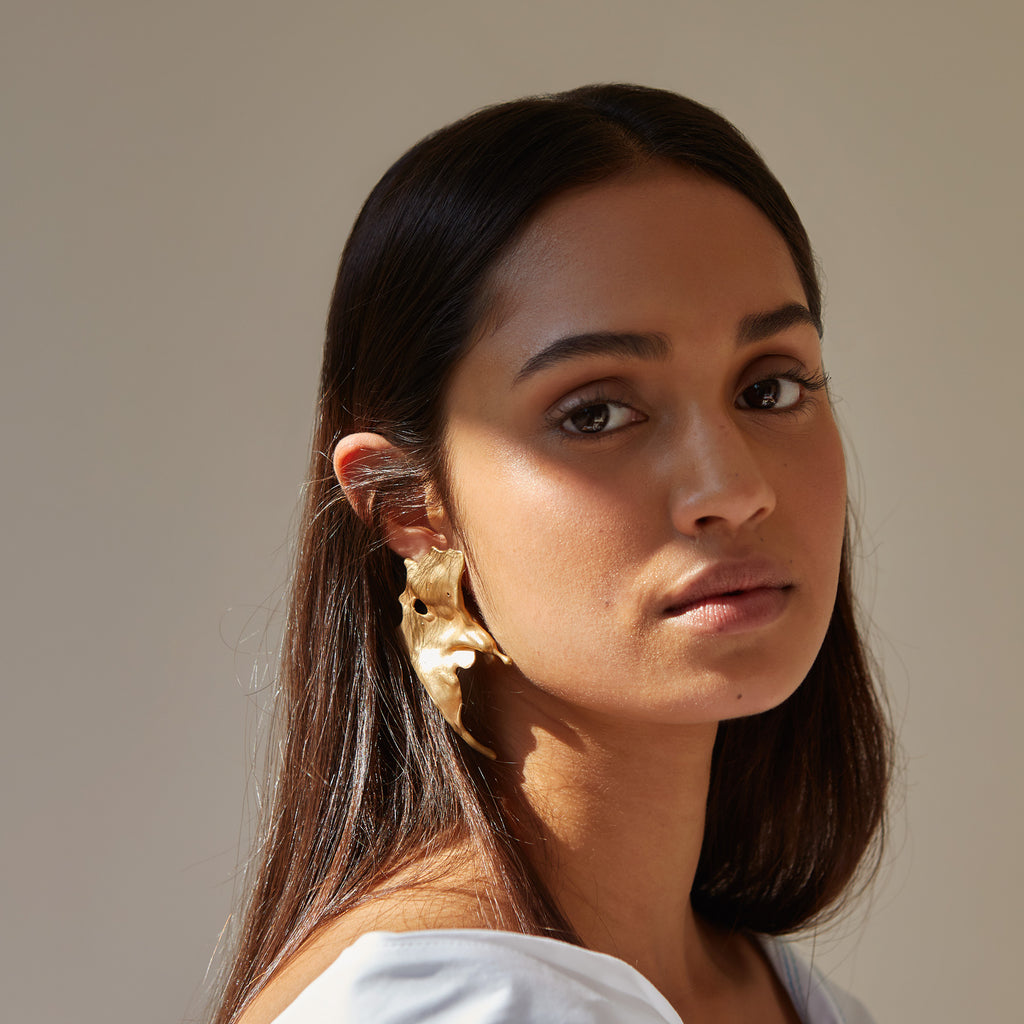 solid gold jewellery, fairtrade gold jewellery, statement fold jewellery