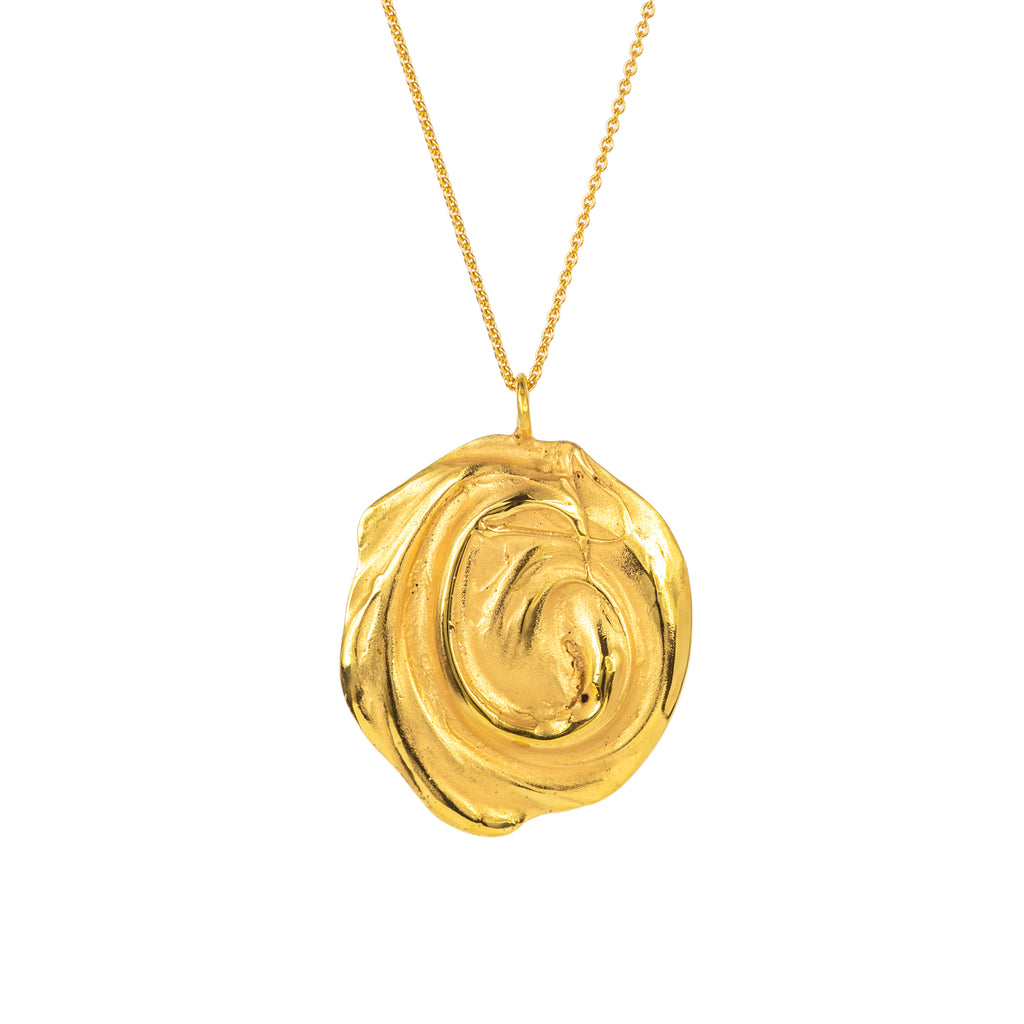 18ct Fairtrade yellow gold chunky pendant