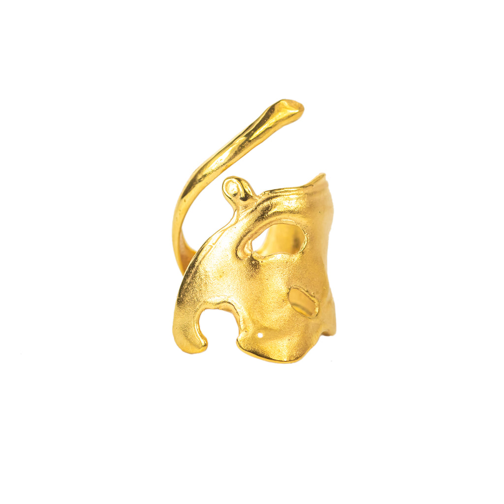 The Broken Wave Ring (22ct Gold Vermeil) Pascale James Jewellery