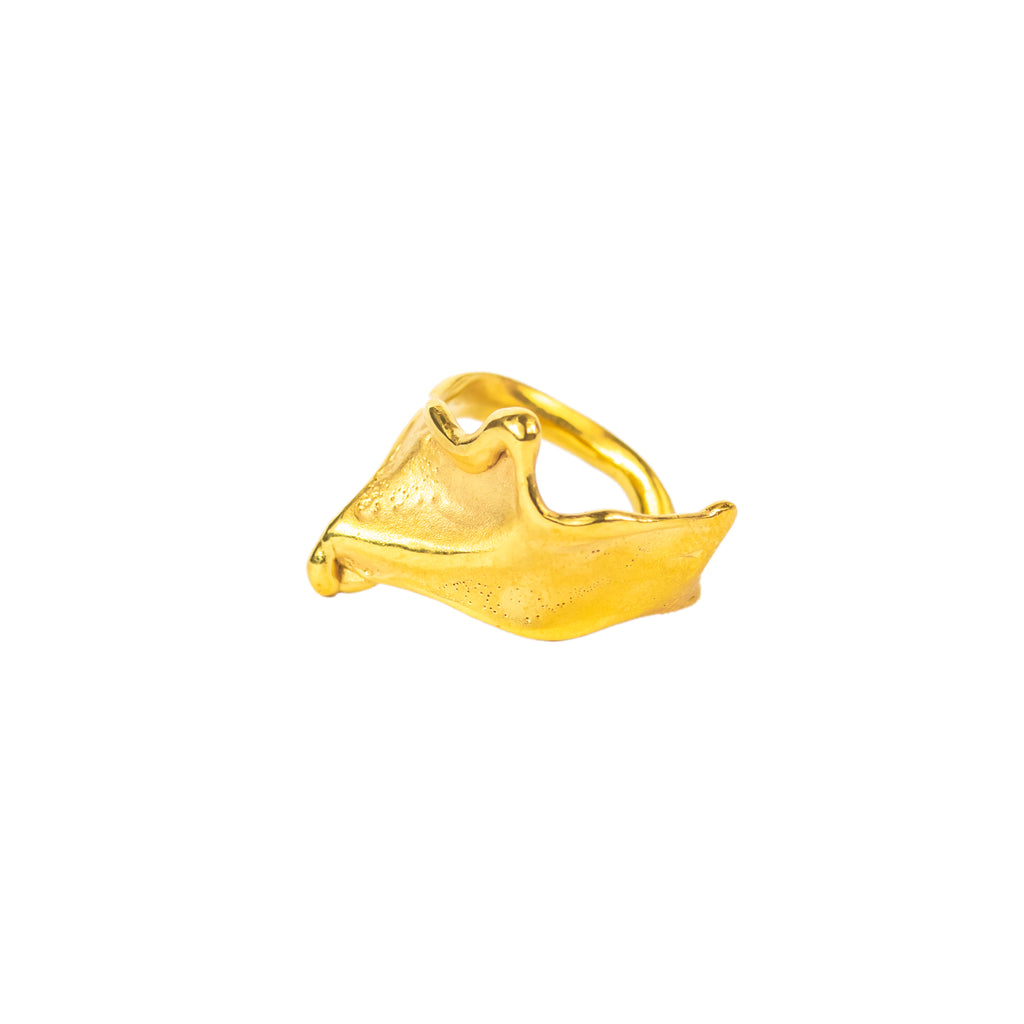 The Folding Wave Ring (22ct Gold Vermeil) Pascale James Jewellery