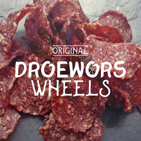Original Droewors Wheels / Chips - Biltong & Droewors - Barefoot Biltong UK