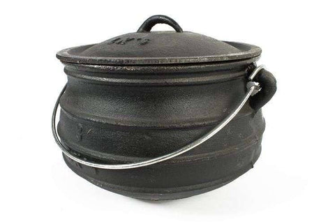 South African Potjie, Flat Potjie Pots, Cast Iron potjie, Braai shop, flat bottomed pots
