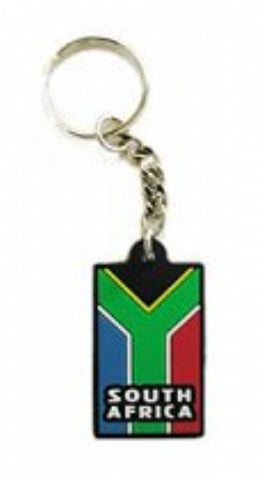 Keyring (PVC) South African Flag