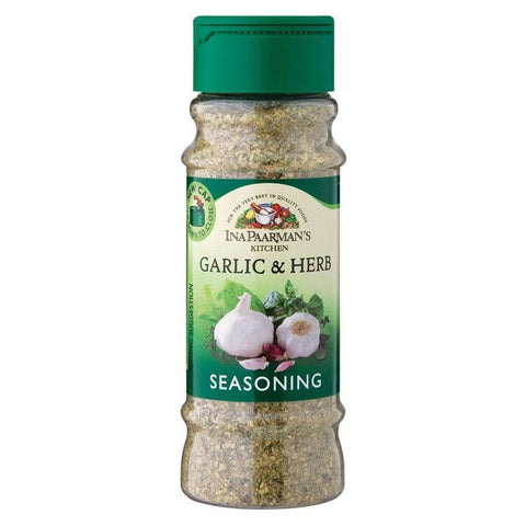 Ina Paarman Seasoning Garlic & Herb 200ml Jar - Spices & Herbs - Barefoot Biltong UK