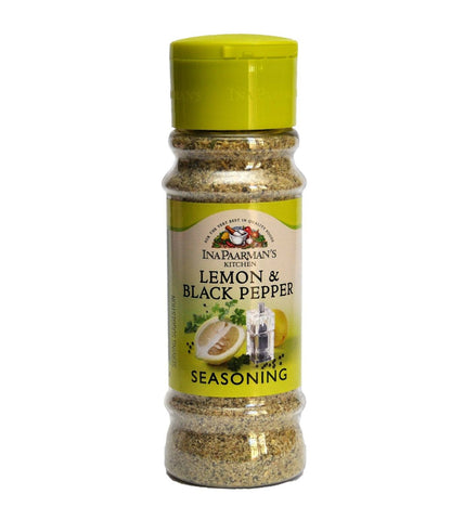 Ina Paarman Seasoning Lemon & Black Pepper 200ml Jar - Spices & Herbs - Barefoot Biltong UK
