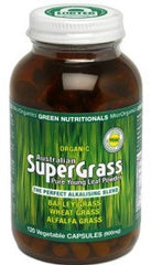 Organic Green Nutritionals Australian Supergrass Vegecaps