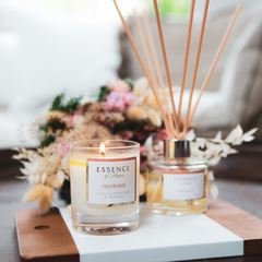 Huisinis soy wax candle and reed diffuser