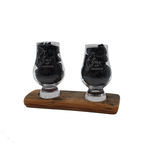 Isle of Harris Whisky Glass with Double Oak Whisky Barrel Base