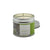 Silver tin single wick candle with green Essence of Harris Losgaintir label