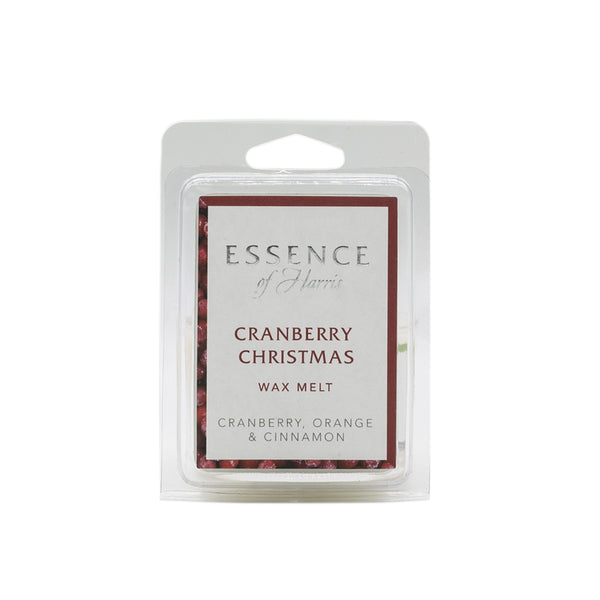 6 cube soy wax melt bar in Essence of Harris Cranberry Christmas scent