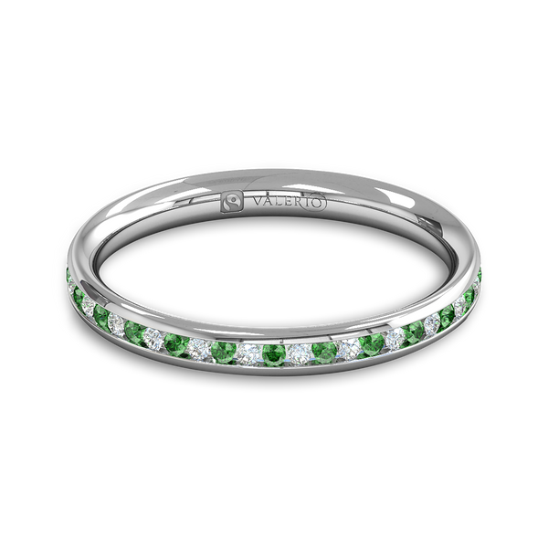 Diamond and Emerald Fairtrade Gold Ethical Eternity Ring