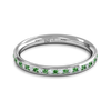 Diamond and Emerald Fairtrade Gold Eternity Ring