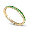 Emerald Fairtrade Gold Ethical Eternity Ring