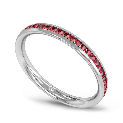 Channel Set Ruby Fairtrade Eternity Ring