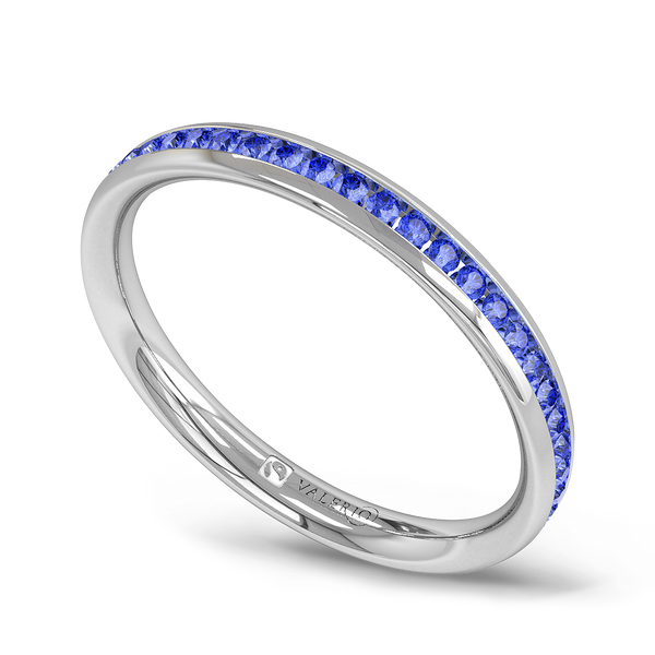 Channel Set Sapphire Fairtrade Eternity Ring