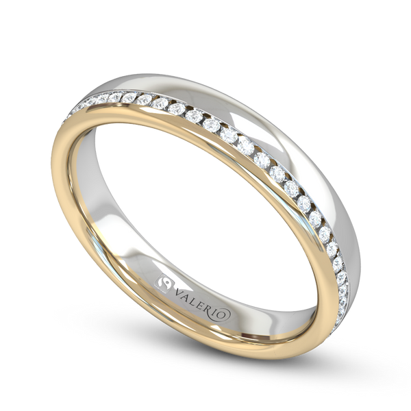 Fairtrade 2 Gold Diamond Set Wedding Ring