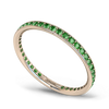Grain Set Emerald Fairtrade Full Eternity Ring