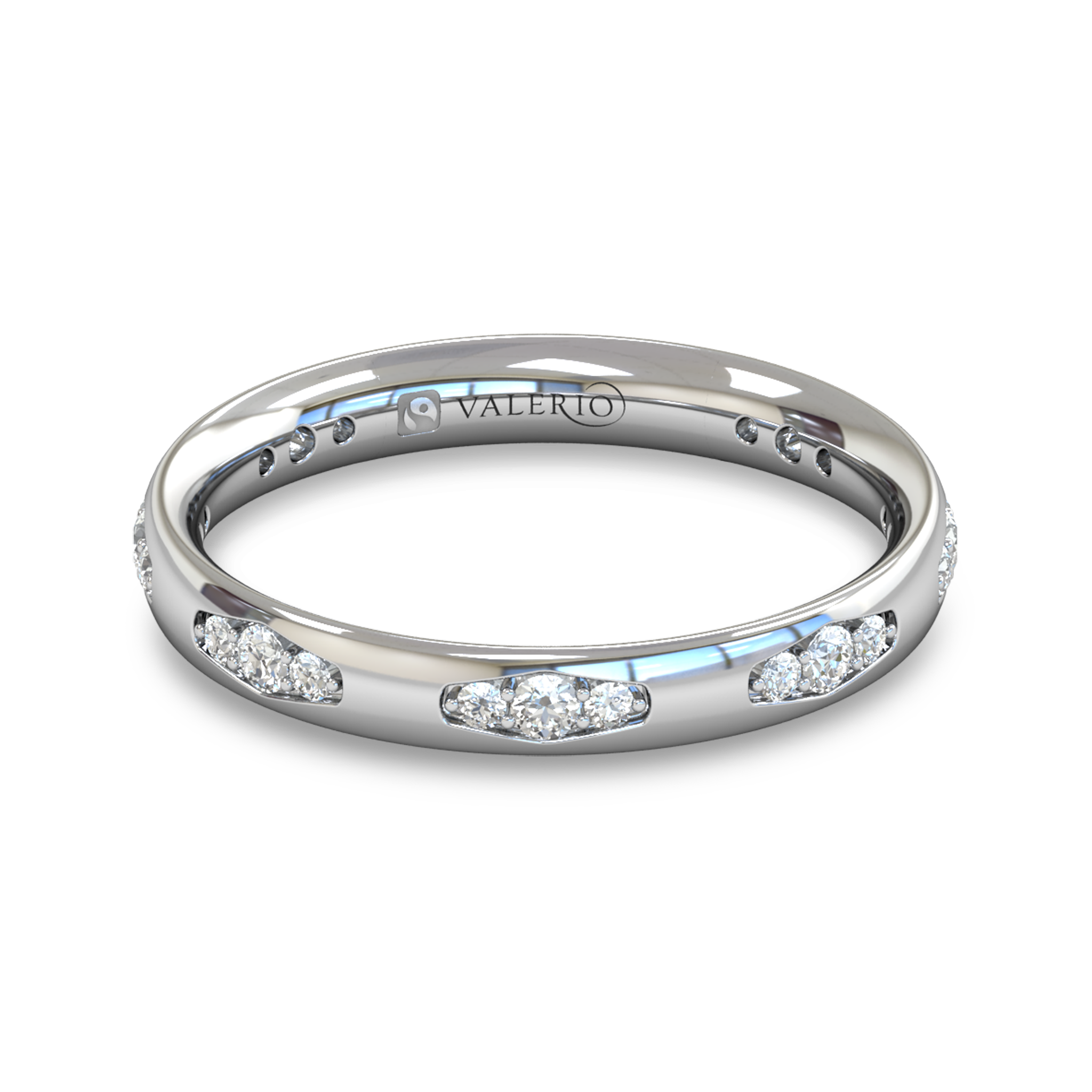 Fairtrade Gold Vintage Style Women s Wedding Ring with Diamond in 18K White Gold