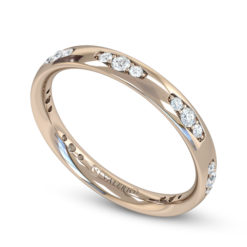 Fairtrade Gold Vintage Style Women's Wedding Ring with Diamond