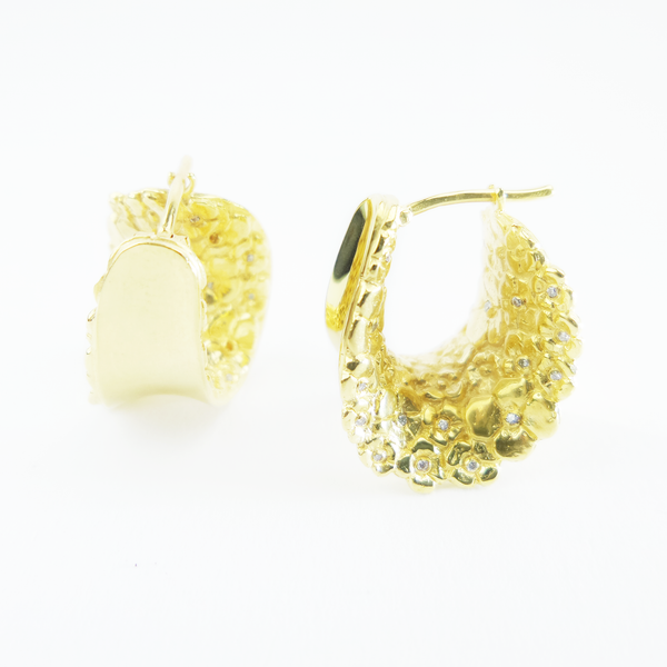 Garden Sun Fairtrade Gold Earrings