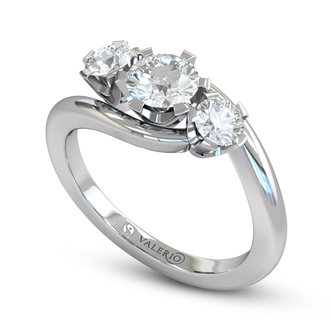 Conflict Free Diamond and Fairtrade Gold Engagement Ring