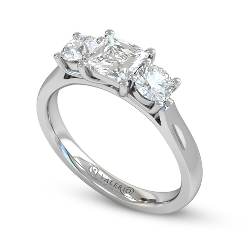 Trilogy Princess Diamond Fairtrade Gold Engagement Ring