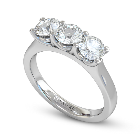 Trilogy Tapered Diamond Engagement Ring