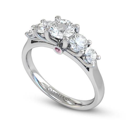 Five Graces Diamond Engagement Ring