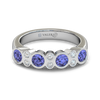 Oblique Sapphire and Diamond Ring