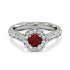 Fairtrade Gold Round Nyala Ruby and Diamond Engagement Ring
