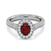 Fairtrade Gold Oval Nyala Ruby and Diamond Engagement Ring