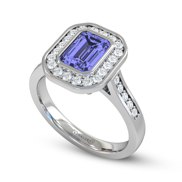 Blue Sapphire and Diamond Fairtrade Gold Engagement Ring
