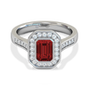 Ruby and Diamond Vintage Engagement Ring