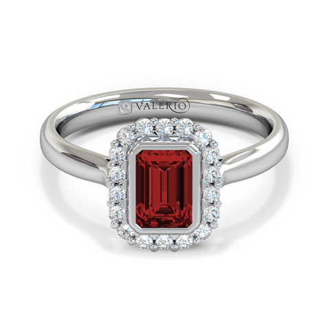 Nyala Ruby and Diamond Engagement Ring