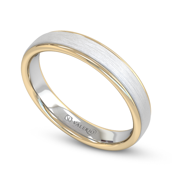 Fairtrade 2 Gold Court Men's Wedding Ring
