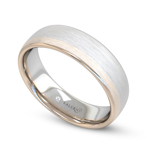 Rose & White Gold Fairtrade Court Women's Wedding Ring
