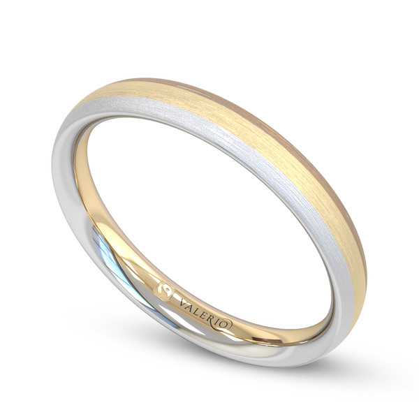 Fairtrade 3 Gold Court Men's Wedding Ring