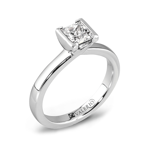 Princess Cut Tension Set Diamond Engagement Ring