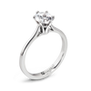 Solitaire Diamond Fluted Engagement Ring