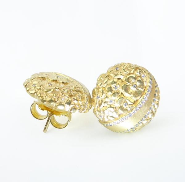 Garden Buds Fairtrade Gold Stud Earrings